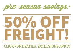 Holiday Savings 50% Off Freight